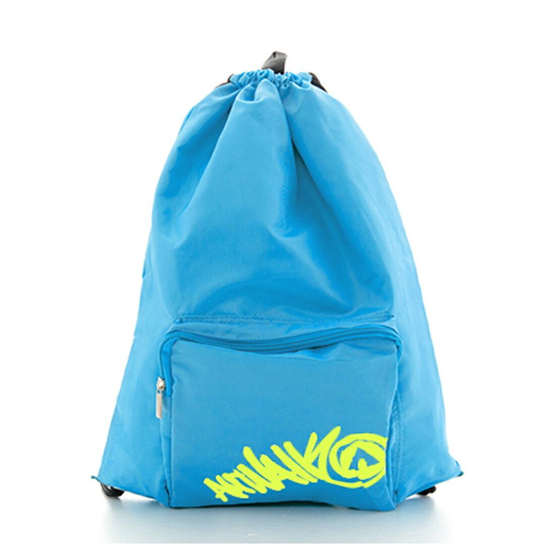 AIRWALK街頭系列-街頭主義系列-束口後背包(水藍)