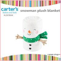彌月禮盒推薦Enen Shop @Carter's 可愛雪人造型保暖毯 #L35781H 新生兒/彌月禮 christmas