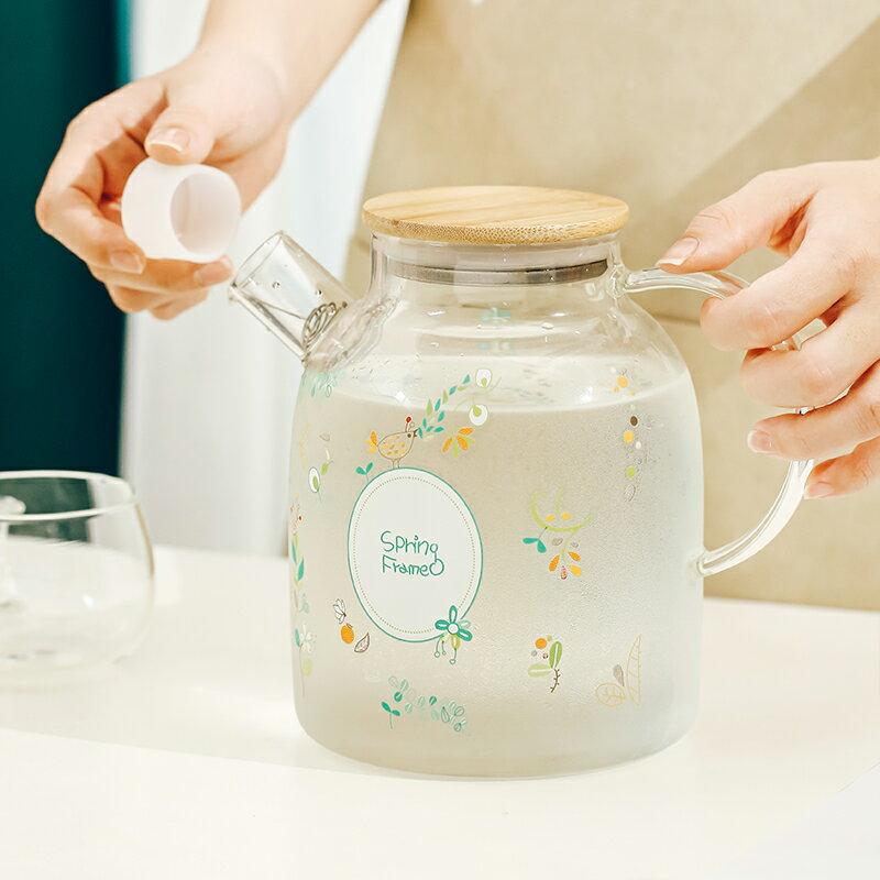 日式耐高溫玻璃冷水壺套裝防爆泡茶壺涼白開水杯 雙十一
