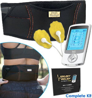 Smart Relief TENS Unit Electro-Therapy Massager Belt Combo 0