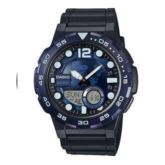 CASIO 錶盤以世界地圖為設計/AEQ-100W-2AVDF