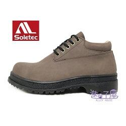 【巷子屋】Soletec超鐵安全鞋-男款牛巴戈中筒安全鞋 牛巴戈 加厚軟墊 [172535] 咖啡 MIT台灣製造 超值價$1280