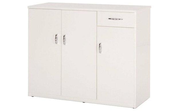 【石川家居】866-04白色鞋櫃(CT-318)#訂製預購款式#環保塑鋼P無毒防霉易清潔