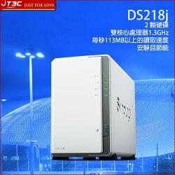 Synology 群暉科技 DiskStation DS218j NAS (2Bay/Marvell/512MB) 網路儲存伺服器(不含硬碟)