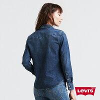 牛仔襯衫推薦到Levis 女款 牛仔襯衫 / Barstow V型雙口袋 / 經典修身版型 / 彈性布料 W就在LEVIS官方旗艦店推薦牛仔襯衫