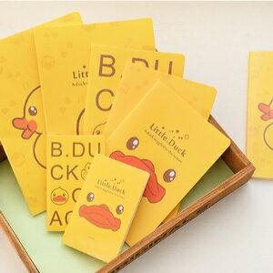 美麗大街【BF227E21】大黃鴨子A6車線本可愛動物筆記本記事本