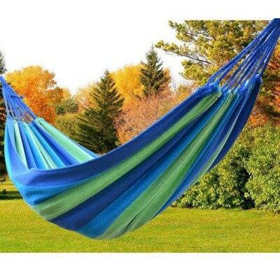 【雙人帆布吊床】戶外露營 鞦韆 戶外用品/含收納袋 2米綁繩