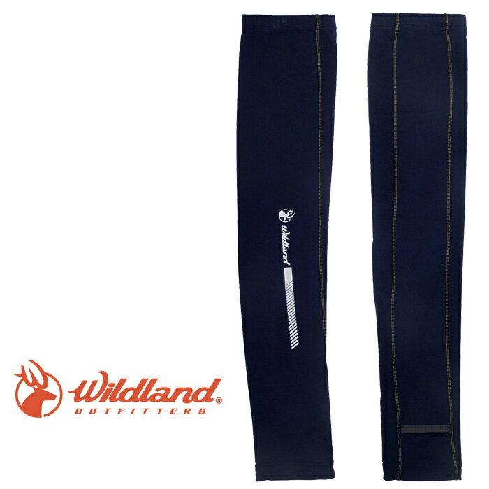 【Wildland 荒野 台灣】開洞透氣袖套 抗紫外線袖套 防曬袖套 深藍色 (W1810-72)