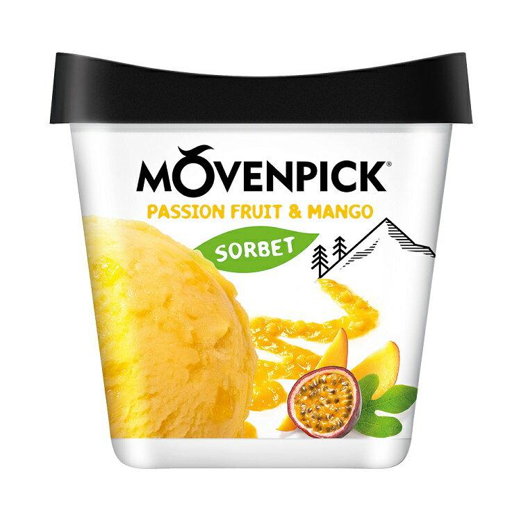 莫凡彼Movenpick 百香果芒果雪酪盒裝冰淇淋 500ml【比漾廣場】