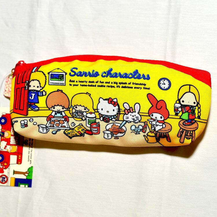 Sanrio 家族 帆布 筆袋 化妝包 包包 收納包