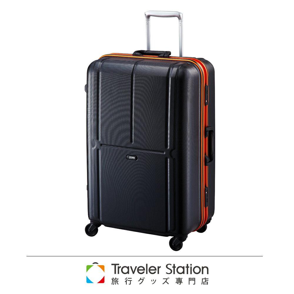 【日本Traveler Station】 29吋 PC 鋁框拉桿 超靜音輪 行李箱 -橘框