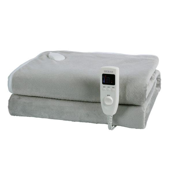 【禾聯家電】五段式溫控 恆溫設計/八小時自動斷電保護設定/過熱安全自動斷電保護/可洗衣機清洗 方便清潔/柔軟親膚絨布材質 HEB-12N3 法蘭絨雙人電熱毯
