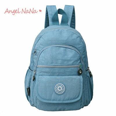 後背包。 AngelNaNa 韓 水洗布 防水 防潑水 超輕量 簡約雙肩包【BA0198】