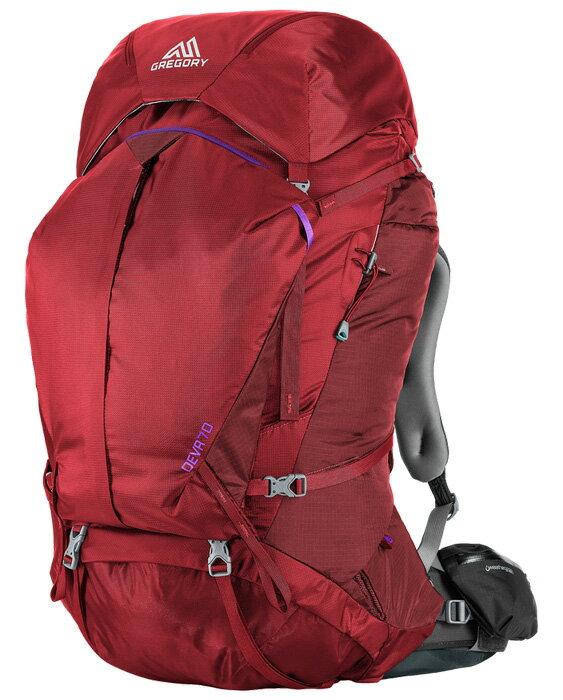 【鄉野情戶外專業】 Gregory  美國  Deva 70 登山背包《女款》/重裝背包 自助旅行背包-寶石紅S/65039 【容量70L】
