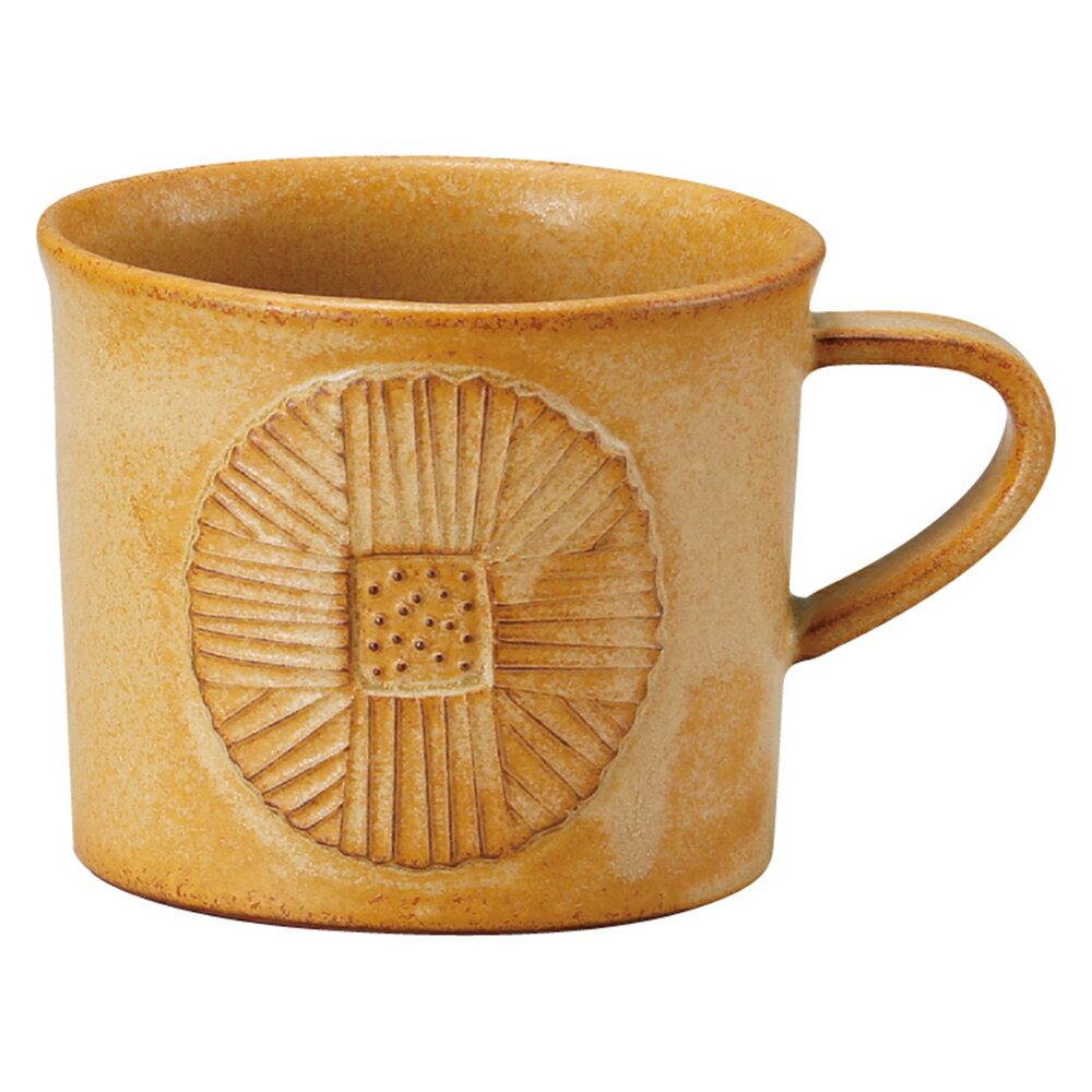 【日本Meister Hand】FLOR 小菊花馬克杯 咖啡杯 水杯 280ml 焦糖黃 -618年中慶