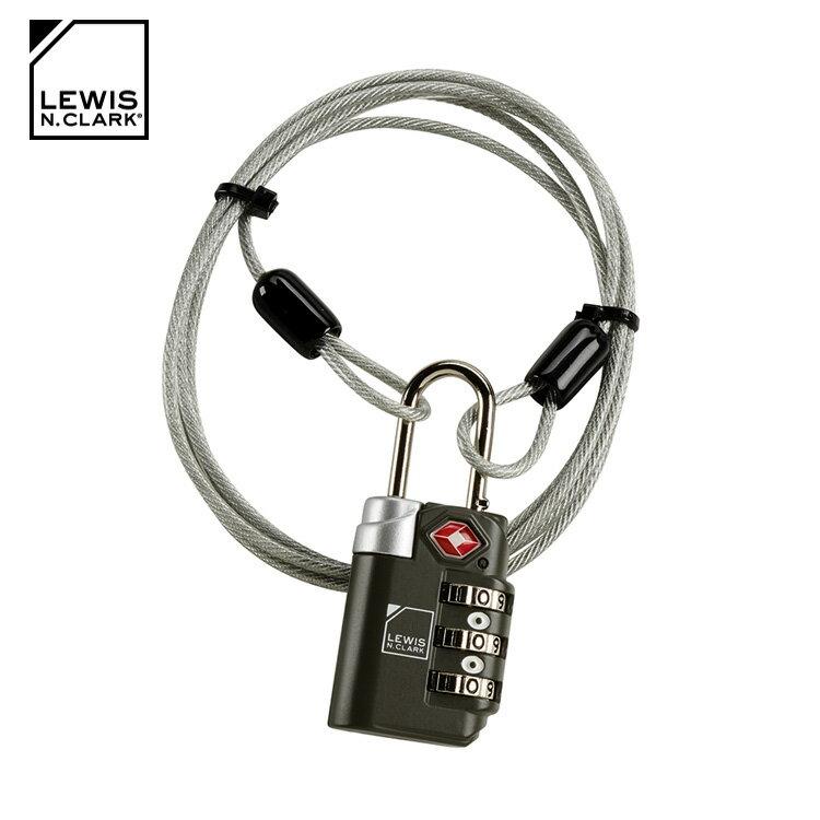 Lewis N. Clark TSA海關纜繩密碼鎖 TSA83 / 城市綠洲 (海關鎖、旅行箱、旅遊配件、美國品牌)