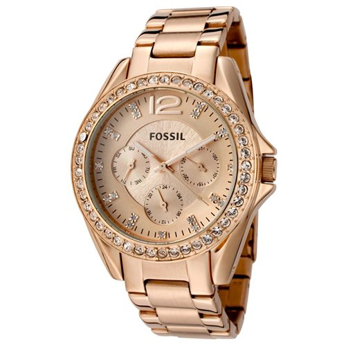 Fossil Women's ES2811 Gold Stainless-Steel Quartz Watch with Gold Dial 0