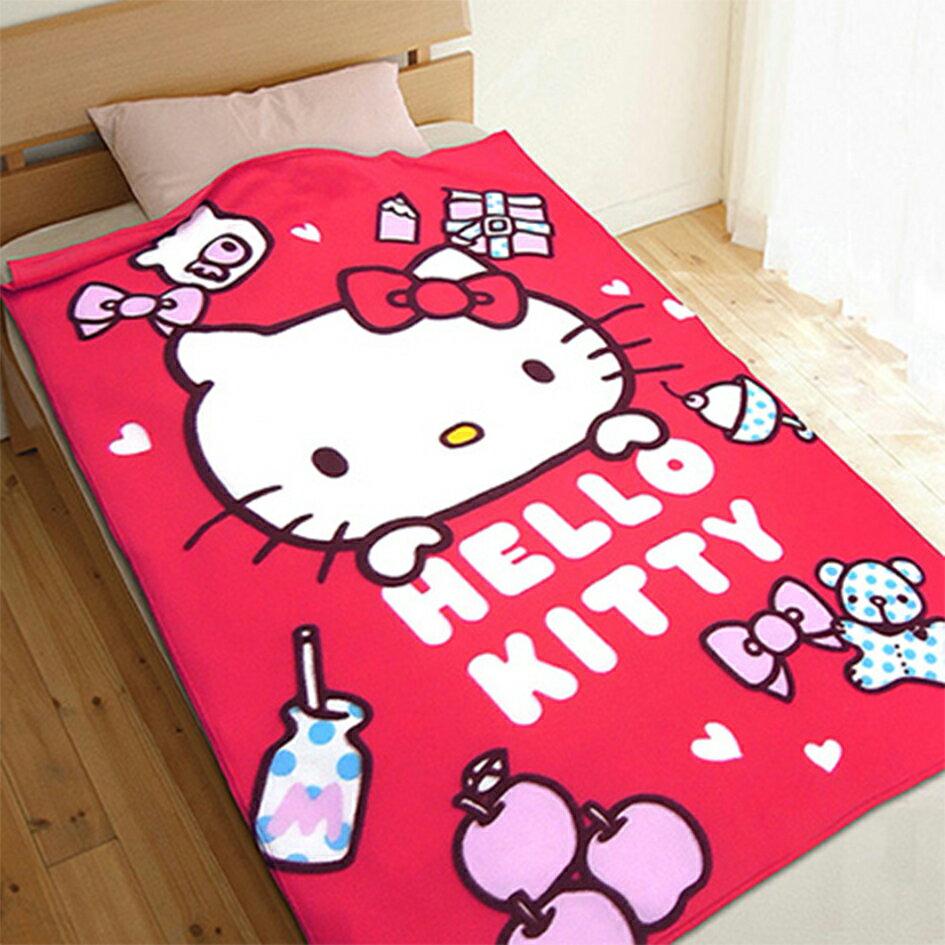 X射線【C233405】Kitty刷毛毯(生活小品),汽車毯/嬰兒毯/冷氣毯 /涼被