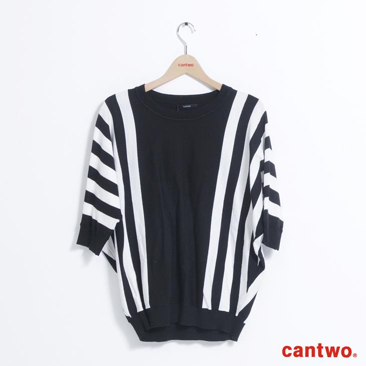 cantwo條紋落肩袖上衣(共二色) 6