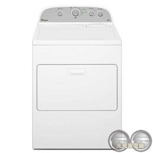 元元家電館:Whirlpool惠而浦12公斤直立瓦斯型乾衣機WGD5000DW