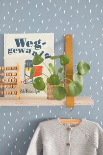 兒童房籃色壁紙荷蘭LittleDutchSprinklesblue8672