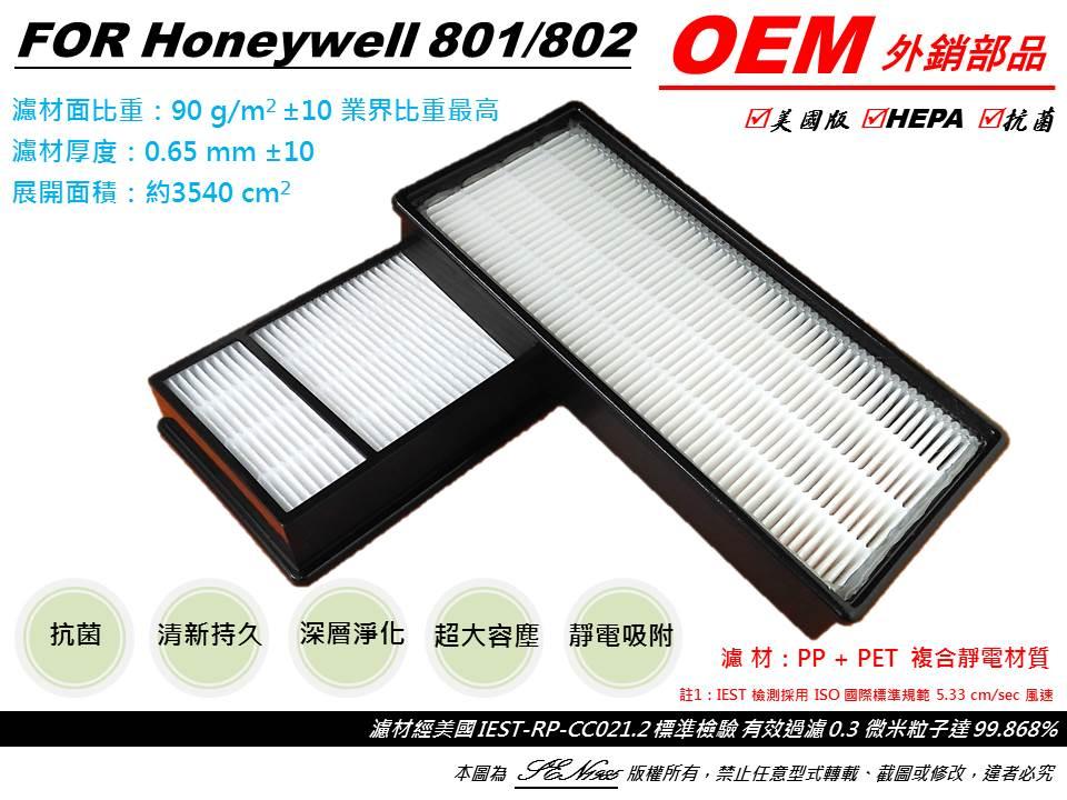 【米歐 HEPA 濾心】4片濾芯+八片抗菌CZ濾網 適用 Honeywell HAP-801APTW HAP-802APTW 空氣清淨機 同 HRF-HX2-AP