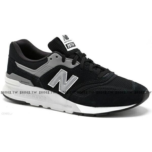 Shoestw【CM997HCC】NEW BALANCE NB997 復古休閒鞋 麂皮 網布 黑灰銀 男生尺寸 1
