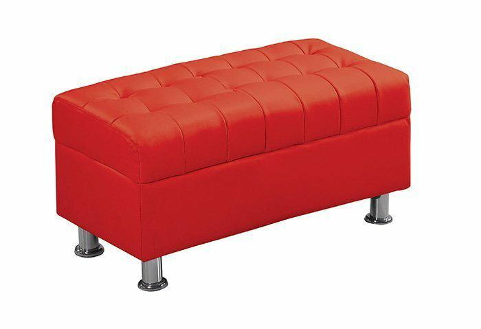 ~尚品 ~ JF~181~8 庫倫80紅皮沙發椅凳