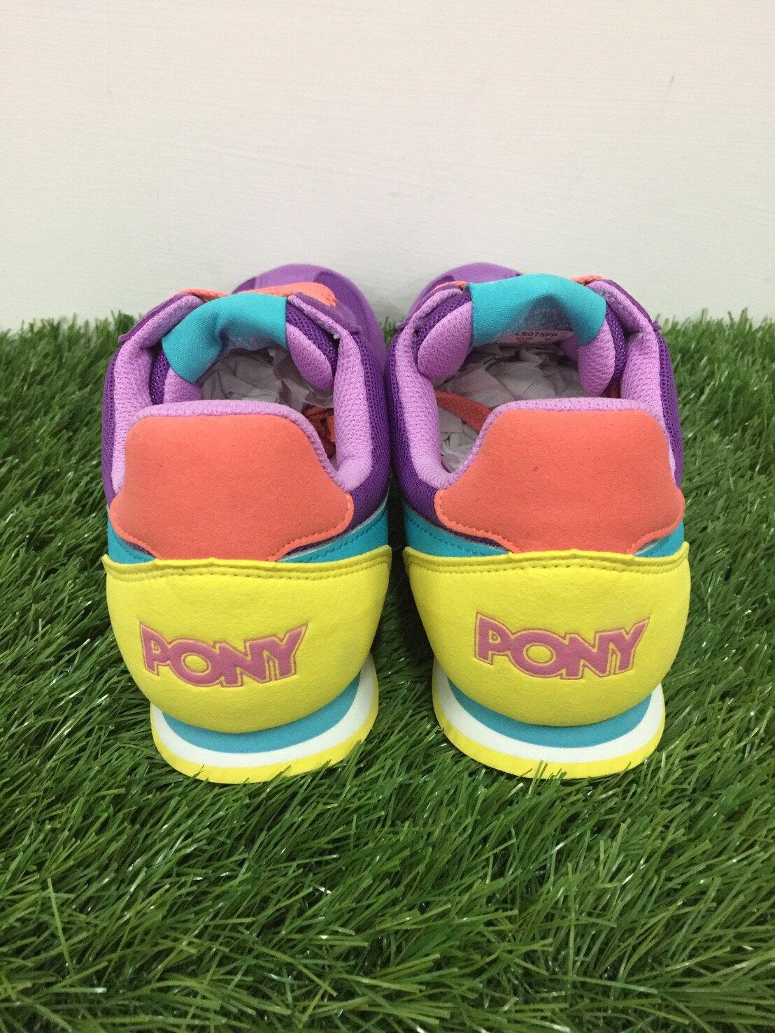 ★限時特價990元★ Shoestw【53W1SO75PP】PONY 復古慢跑鞋 內增高 紫黃藍色 女生 2