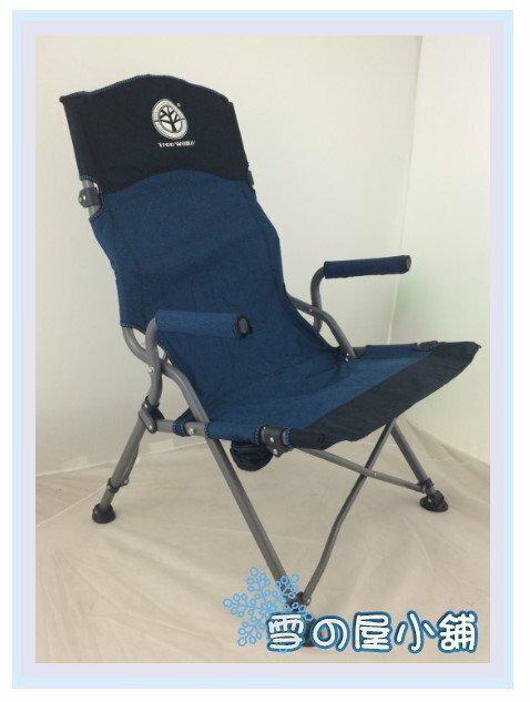 ╭☆雪之屋小舖☆╯@頂級推薦@ 特優高背人體工學設計導演椅/舒適好坐/附背袋/露營攜帶