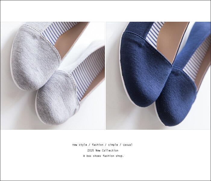格子舖*【AD846】MIT台灣製 簡單素面熱銷款輕便舒適棉料 懶人鞋樂福鞋 娃娃鞋 便鞋 2色 2