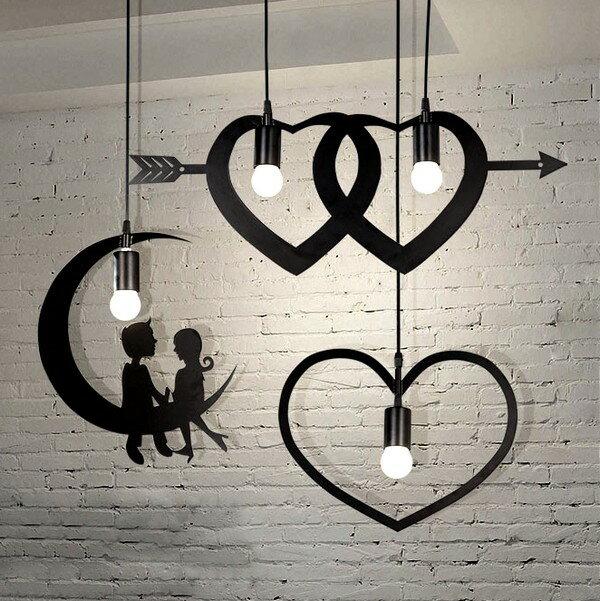 【威森家居】美式 浪漫影繪吊燈 現貨實木鐵藝工業風現代簡約復古吸頂燈檯燈壁燈大廳客廳臥室燈具LED設計師 L170706