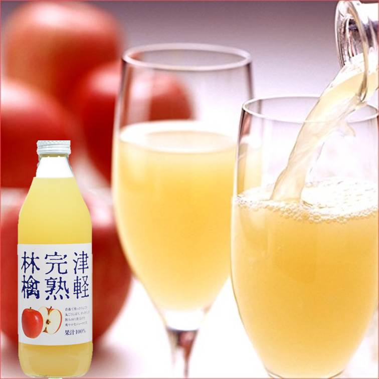 【nora】津輕完熟蘋果汁1L  青森蘋果100%使用 日本進口飲料