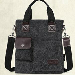 美麗大街【LF1304】帆布單肩背包休閒斜挎包手提包