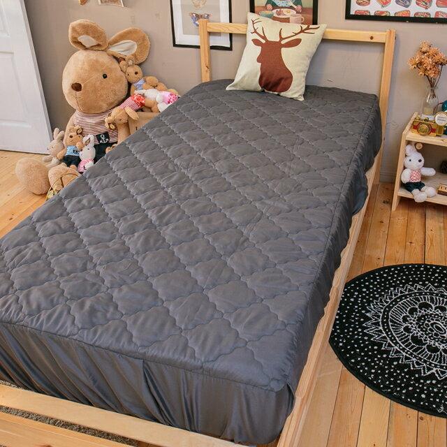 鐵灰床包式保潔墊 雙人5X6.2 抗菌防污  台灣製  厚實鋪棉 可水洗 3