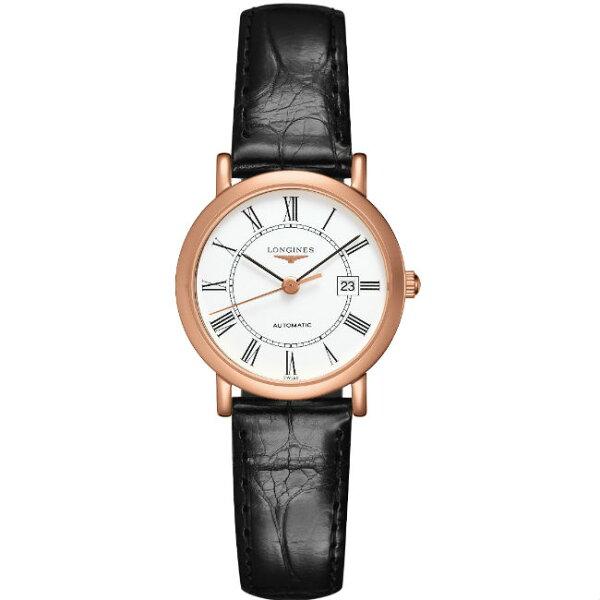 LONGINES浪琴表品鑑優雅系列L43788110經典羅馬典雅腕錶白面27.2mm