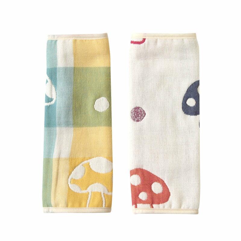 現貨 日本製 hoppetta 六層紗蘑菇背巾口水巾 Hoppetta 六層紗 繽紛蘑菇 背巾口水巾