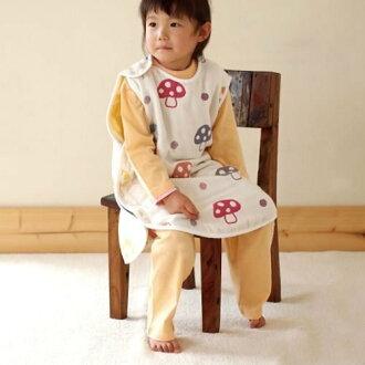 免運費 日本製 現貨供應 大童款 幼童款 2~7 歲 L號 Hoppetta 6重紗蘑菇防踢背心 蘑菇防踢被