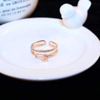 玫瑰金戒指鑲鑽銀飾-精選潮流歐美風格母親節生日情人節禮物女飾品73by61【獨家進口】【米蘭精品】