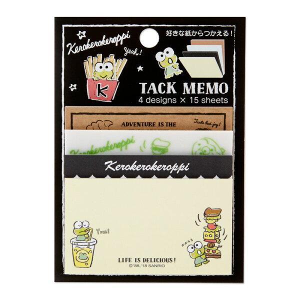 【真愛日本】18070400028日本製60入自黏便籤-KR黑ACU大眼蛙皮皮蛙粉筆藝術便利貼便條紙