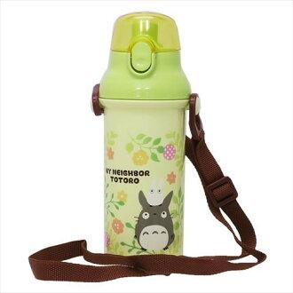 【真愛日本】18022500008 日本製直飲彈蓋水壺480ml-花草植物 宮崎駿 龍貓 TOTORO 水壺 水瓶