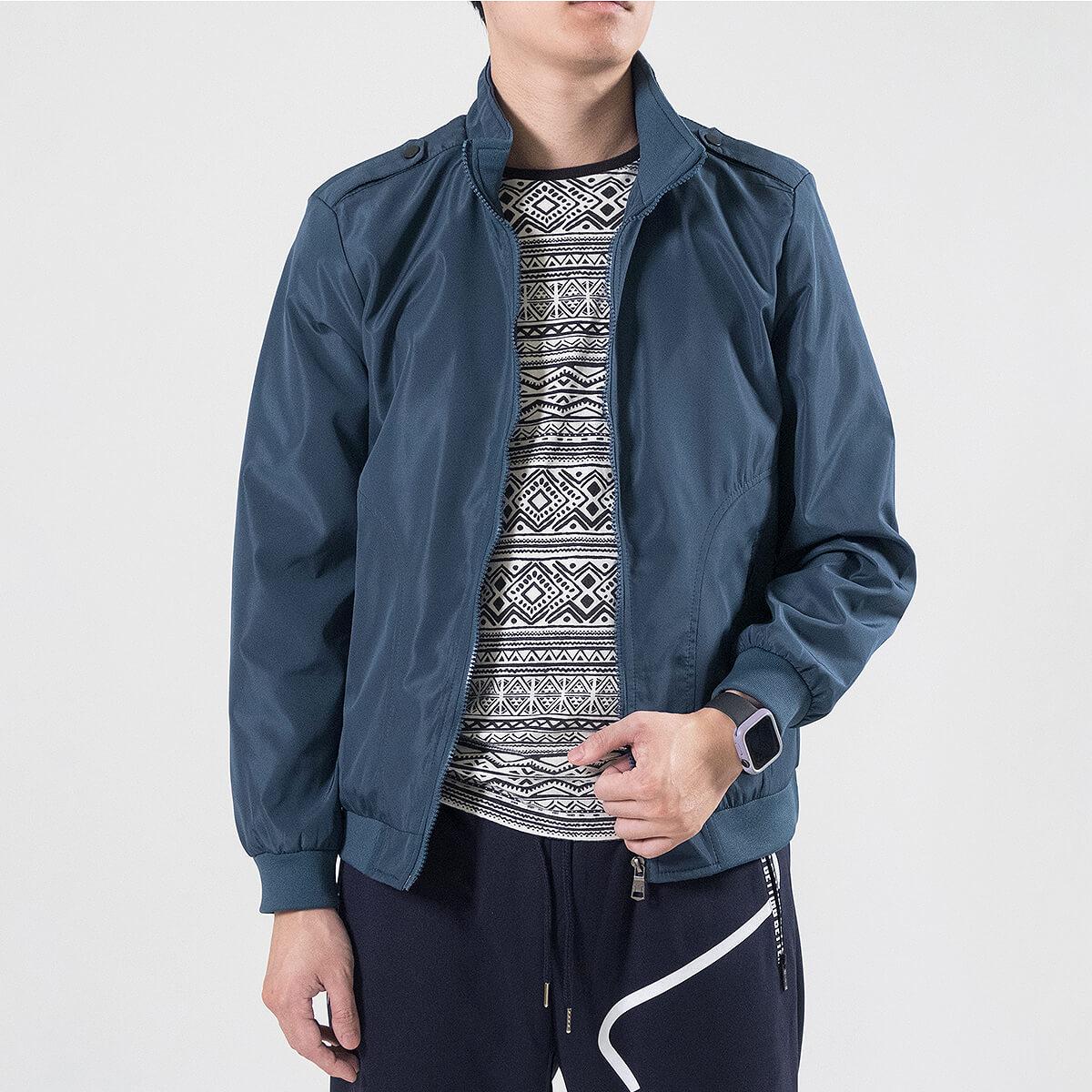 軍裝外套 修身夾克外套 立領素面外套 鈕扣肩章外套 格紋內裡薄外套 防風外套 潮流時尚休閒外套 風衣外套 黑色外套 Military Jacket Men's Jackets Windproof Jackets Button-up Epaulets (321-8025-01)咖啡色、(321-8025-02)藍綠色(321-8025-04)黑色  L XL 2L 3L 4L (胸圍109~124公分  43~49英吋) 男 [實體店面保障] sun-e 3
