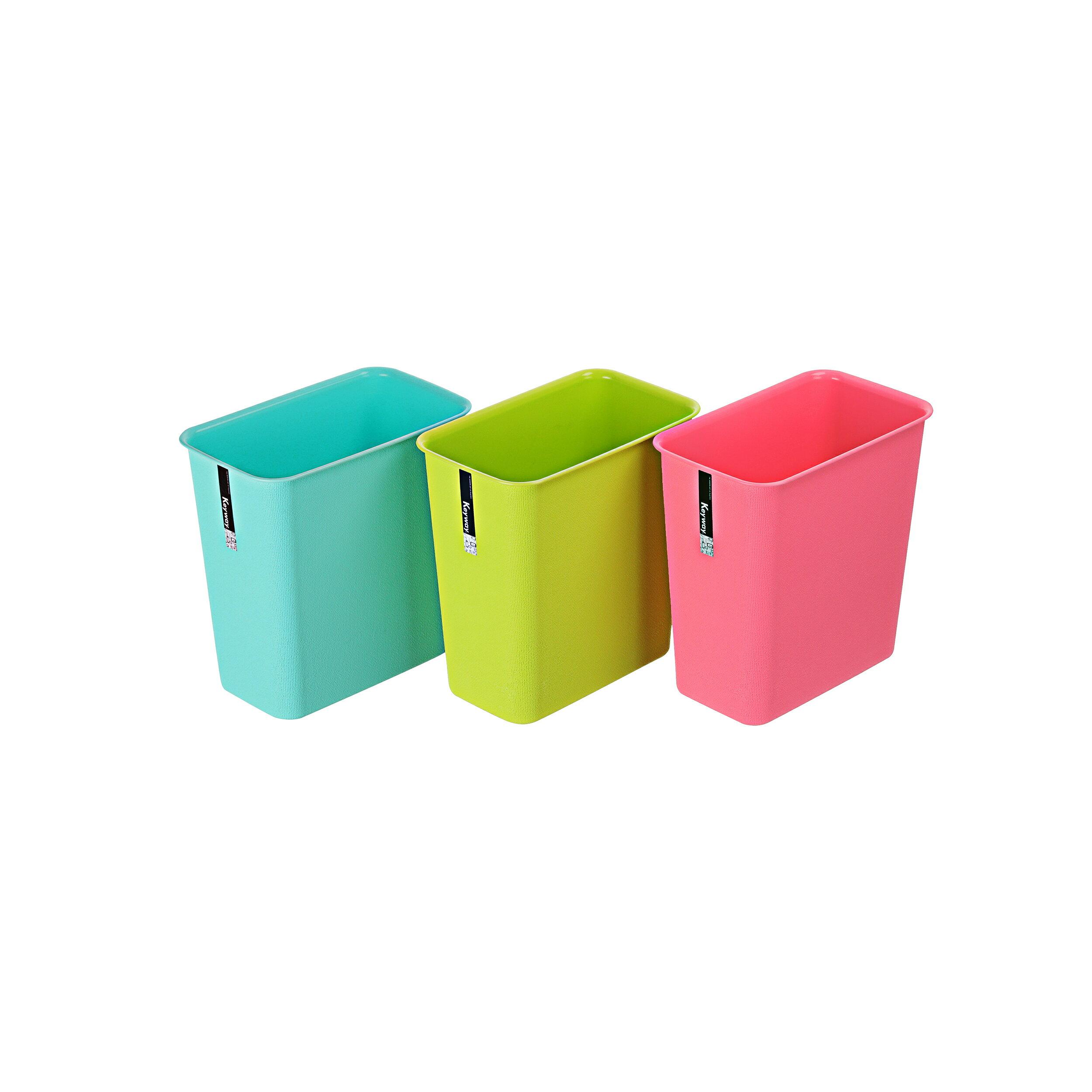 KEYWAY聯府 MIT 小彩虹垃圾桶(長型)C9303(顏色隨機出貨) 0