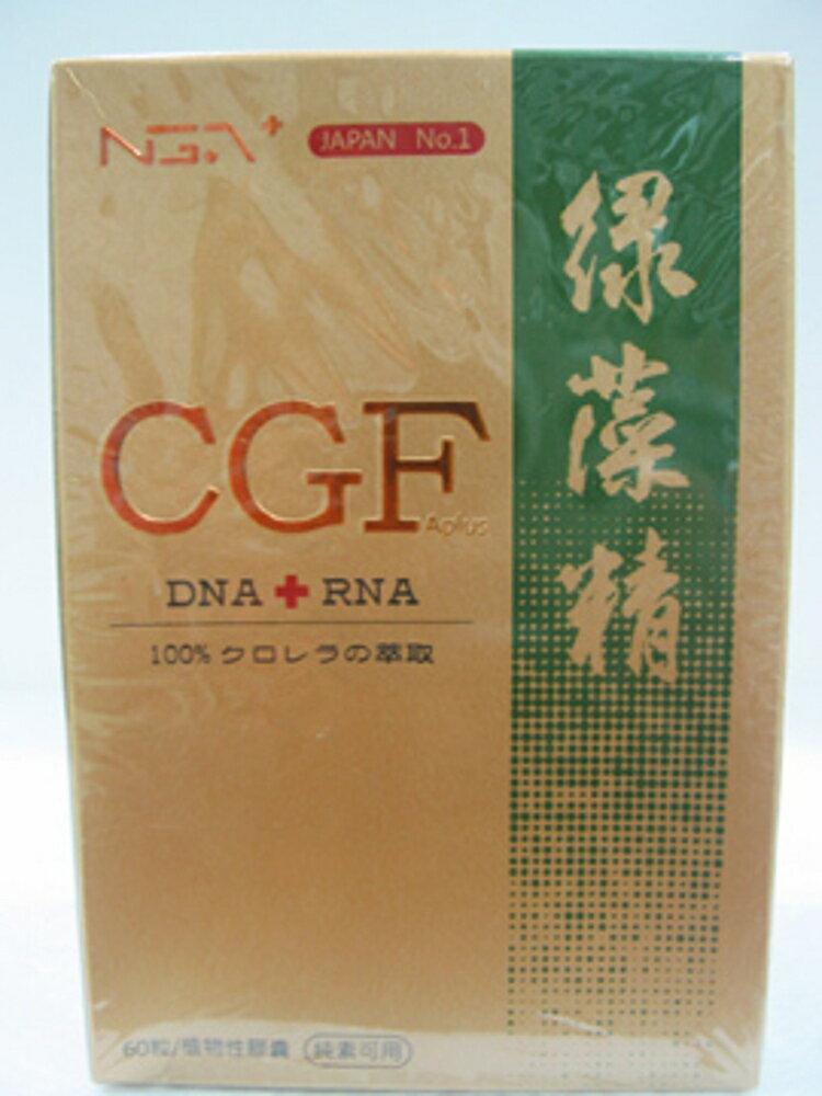 (特惠組 買3罐6000!!)《小瓢蟲生機坊》核綠旺 - C.G.F 基因營養素 - 綠藻精核酸膠囊 360mg x 60粒/盒*3罐