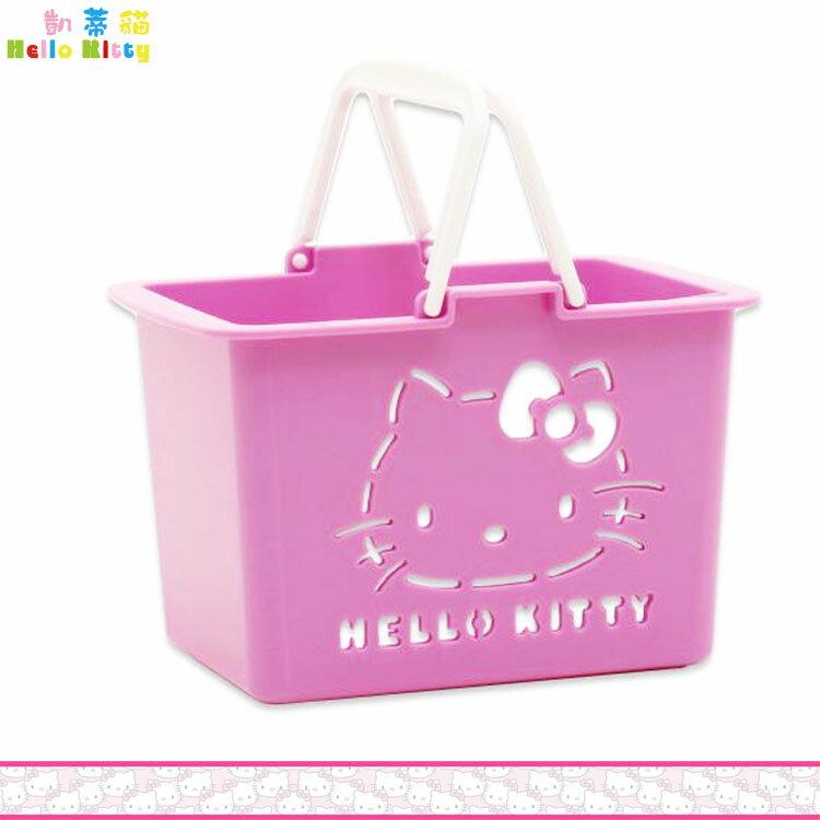 大田倉   製 凱蒂貓 Hello Kitty 迷你置物籃 手提籃 收納籃 小物籃 紫色