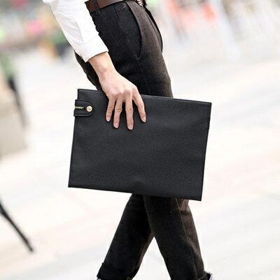 手拿包純色信封包-商務公文薄款休閒男包包73sd13【獨家進口】【米蘭精品】