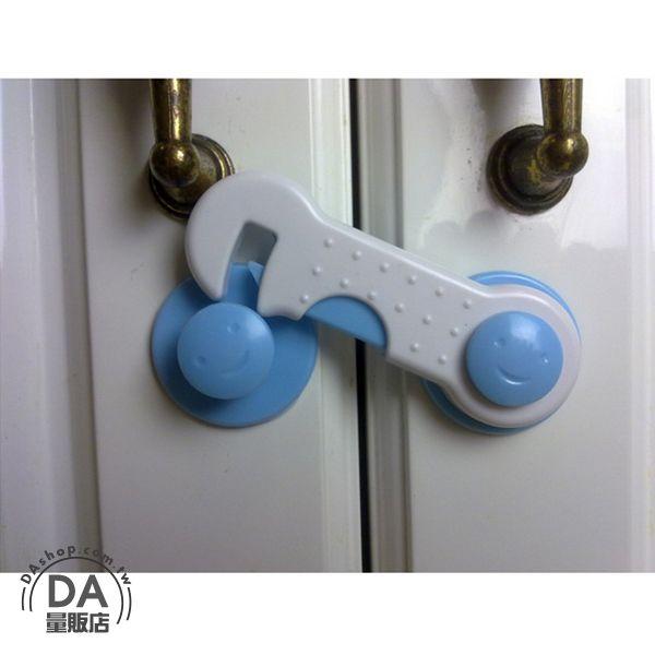 《DA量販店》2入 兒童 安全鎖 門鎖 兒童鎖 抽屜鎖 衣櫃鎖 轉角 櫃門 冰箱鎖(79-1981)