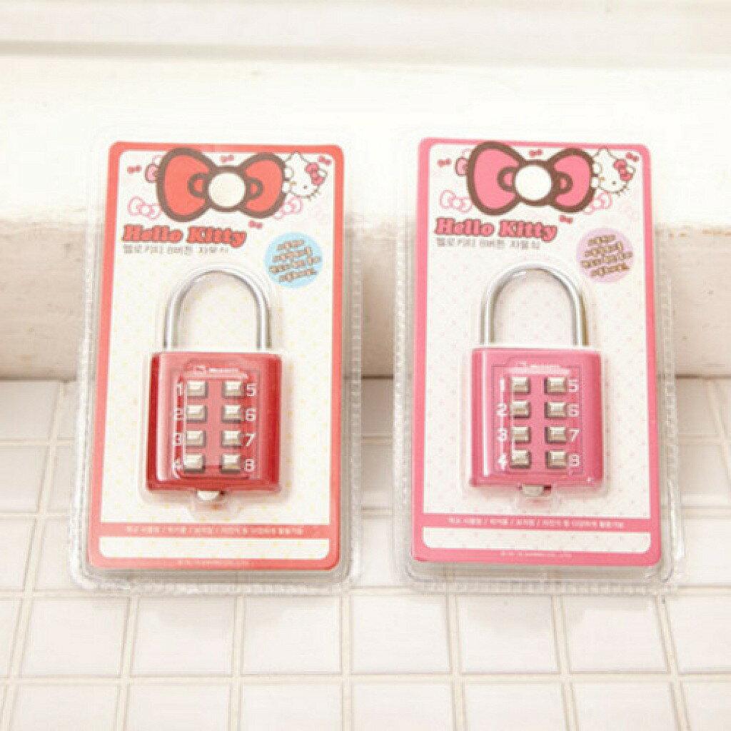 X射線【C252599】Hello Kitty 密碼鎖頭(2款選1),萬用門鎖/冰箱鎖/防兒童貓咪開門/鑰匙