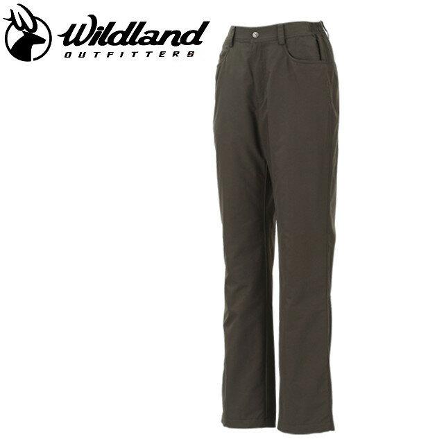 荒野 Wildland  防風褲休閒褲/保暖褲/滑雪/旅遊/ 女防風防潑水保暖長褲 W2301-63 深卡其