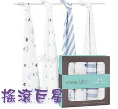 【淘氣寶寶】Aden + Anais全款式 聯名設計雙層細紗布輕柔新生兒包巾(4入裝) FBPPL 6